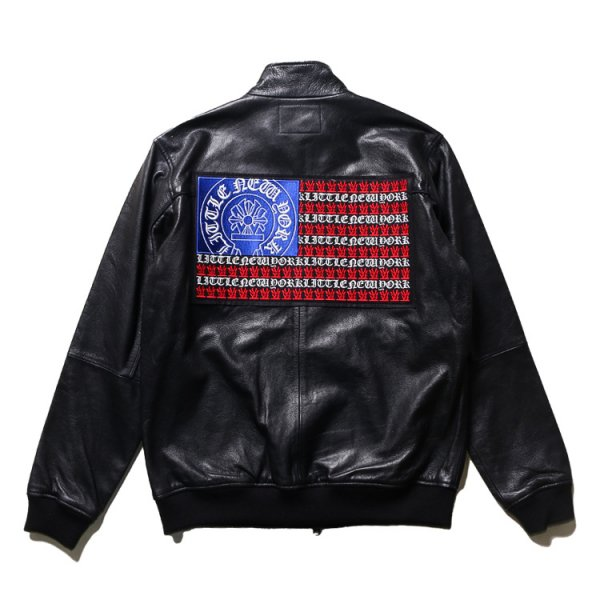 W NYC STARS AND STRIPES GOAT LEATHER JACKET