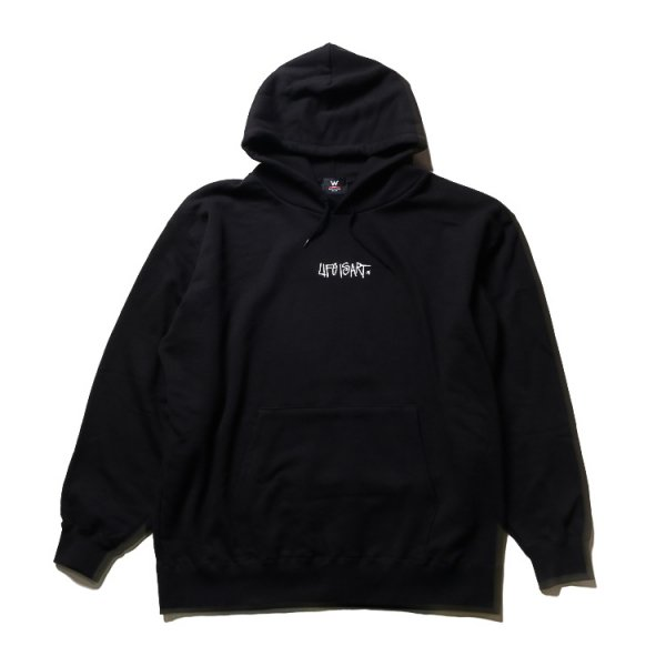 W NYC LIFE IS ART 超OVERSIZED PULLOVER HOODIE