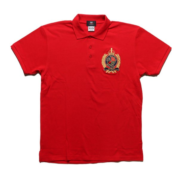 W NYC CREST LOGO POLO SHIRTS