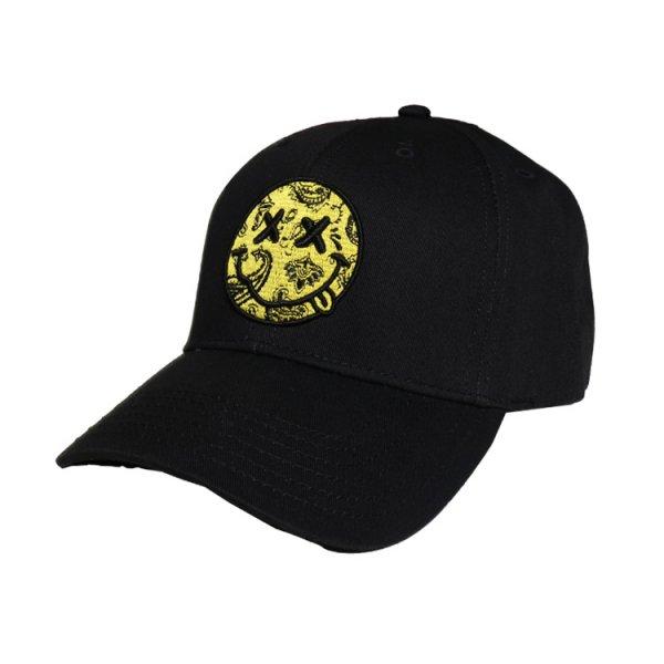 W NYC PAISLEY SMILEY LOGO STRAPBACK CAP