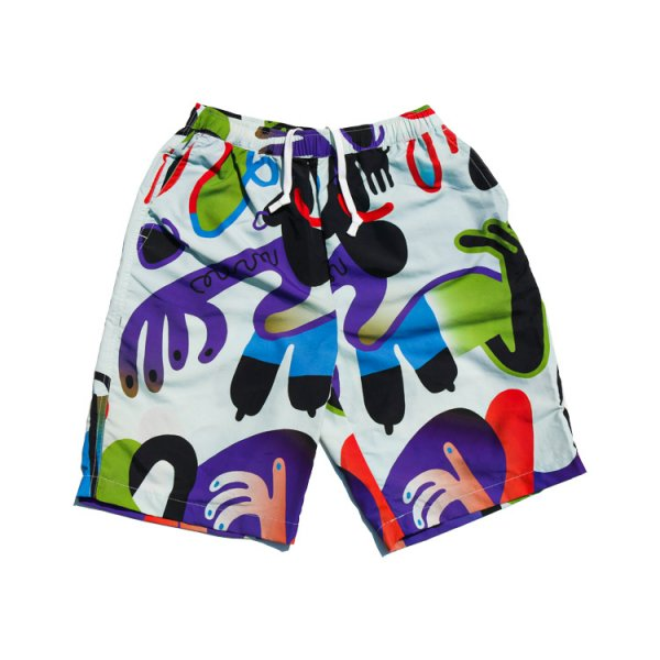 Keeenue×FIRST DOWN USA GRAPHIC COZY SHORTS