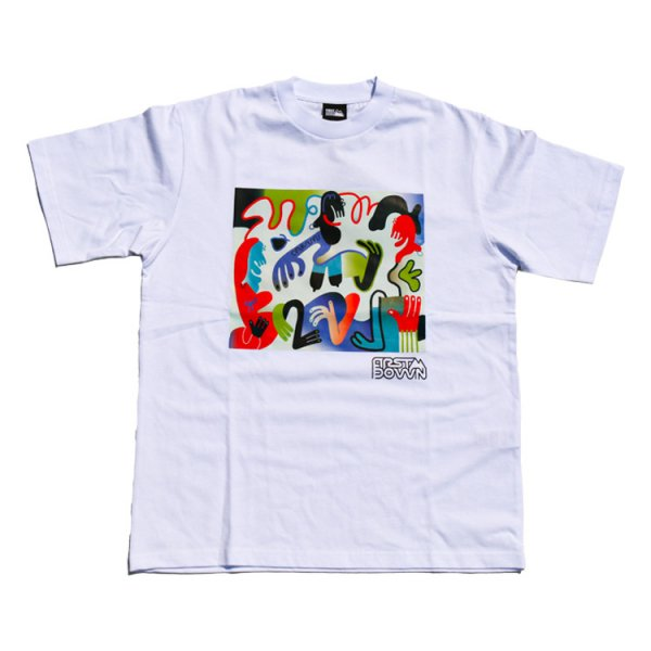 Keeenue×FIRST DOWN USA GRAPHIC T-SHIRT