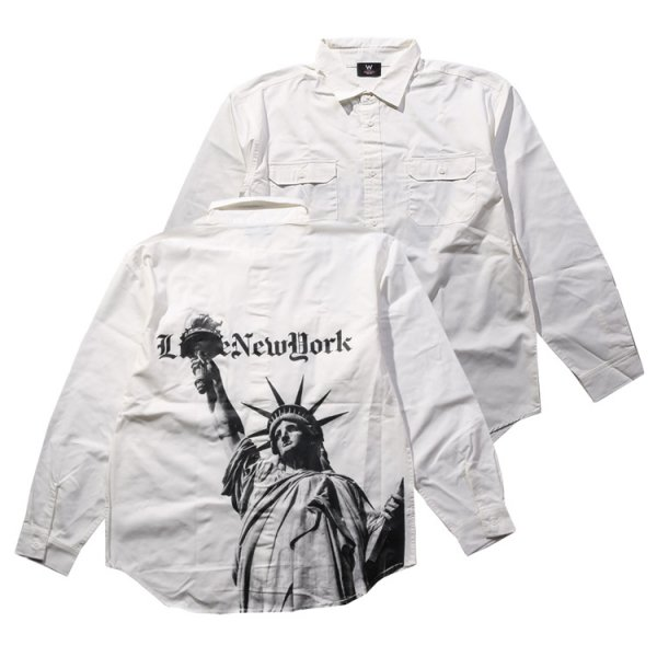 W NYC STATUE OF LIBERTY L/S WORK SHIRT