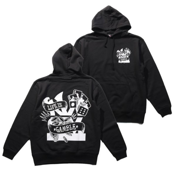 W NYC GAMBLE LOGO PULLOVER HOODIE