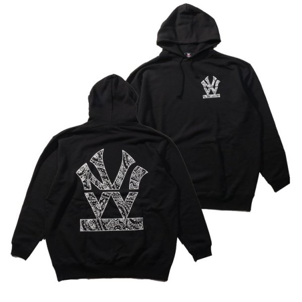 W NYC PAISLEY HERITAGE LOGO PULLOVER HOODIE