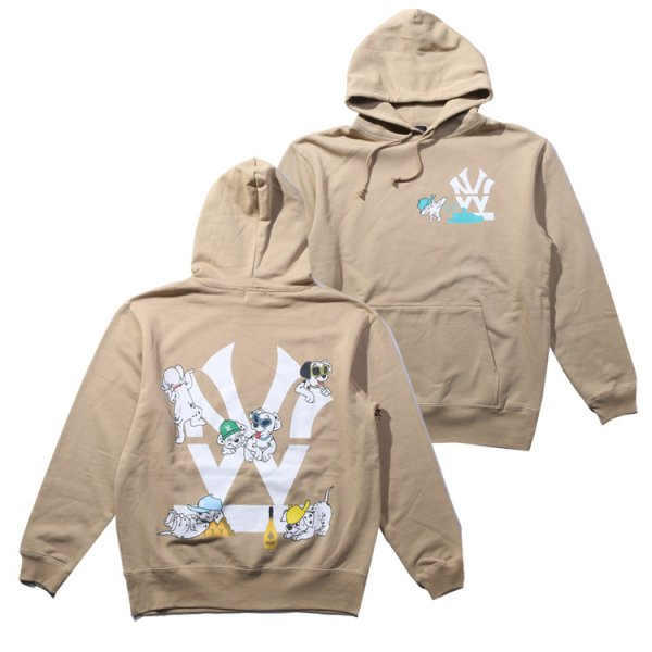 W NYC DOG LOGO PULLOVER HOODIE