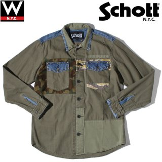 Schott (ショット) ミリタリー クラフト シャツ