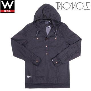 TWO ANGLE(トゥーアングル) フェイクレイヤード プルオーバー フード付き シャツ