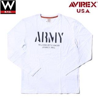 AVIREX(アヴィレックス) オリジナル プリント 長袖 Tシャツ
