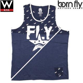 BORN FLY(ボーンフライ) エアープレイン 刺繍 タンクトップ