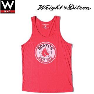 WRIGHT & DITSON(ライト&ディットソン ) ボストン レッド ソックス ロゴ プリント タンクトップ