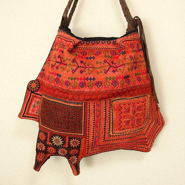 モン族 民族衣装パッチワークバッグ 210