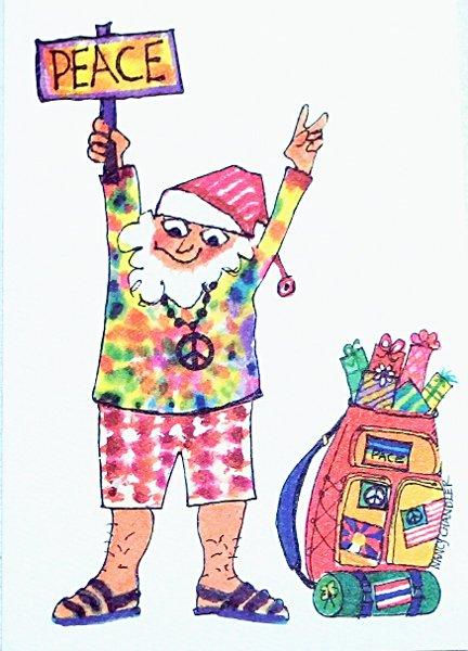 ナンシーチャンドラー グリーティングカード Mサイズ ヒッピークリスマス
