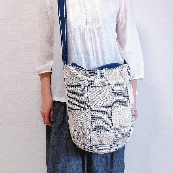 刺し子ショルダーバッグ 02 手織り布藍染め