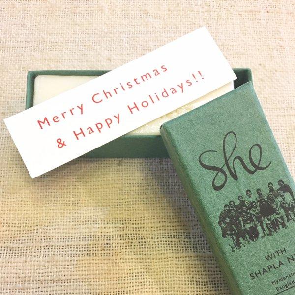 石鹸 she マイメンシン クリスマスソープ (フェアトレード)