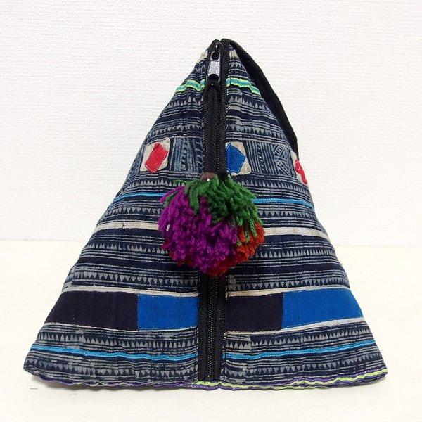 モン族 三角ポーチバッグ Mサイズ B