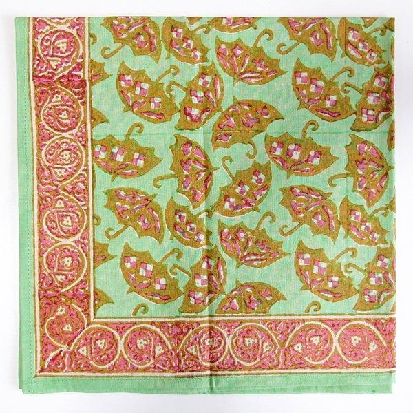 インド ブロックプリント バンダナ 22 傘