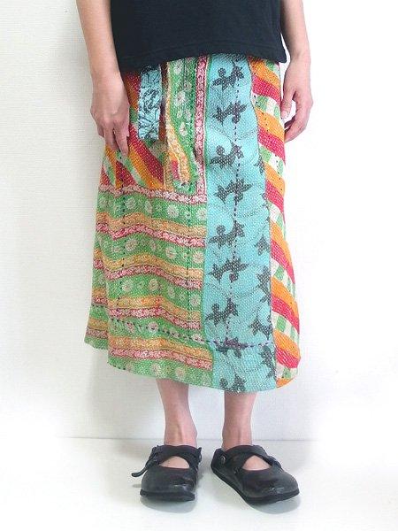 カンタ刺繍 リバーシブルラップスカート 16
