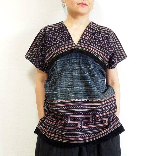 モン族 手刺繍貫頭衣 K