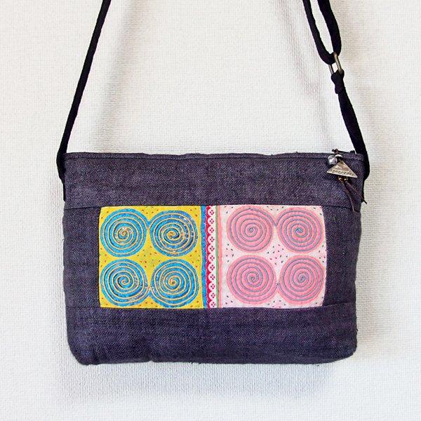 モン族 手刺繍ポシェット 35B