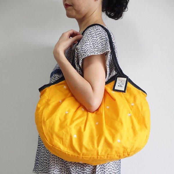 sisiグラニーバッグ 120%ビッグサイズ 刺繍 オレンジ