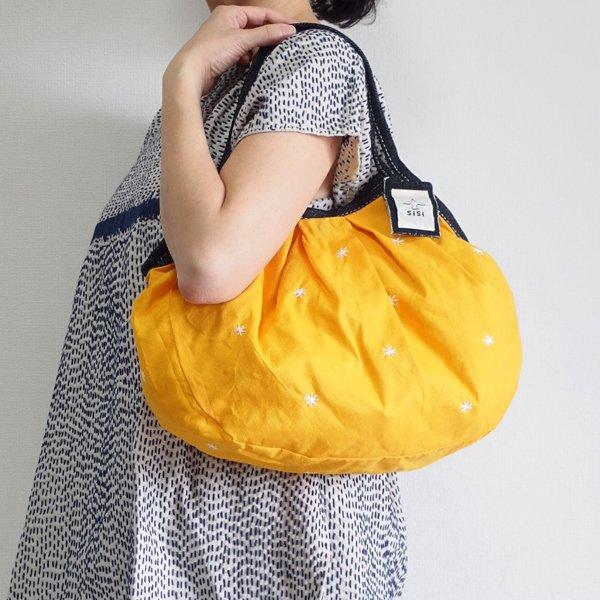 sisiグラニーバッグ 定番サイズ 刺繍 オレンジ