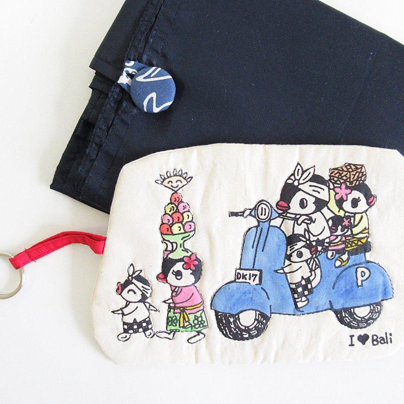 スタジオパチェ ペン子ちゃん 袋付きエコバッグLサイズ(バリ大好き) Studio Pace shopping bag size L