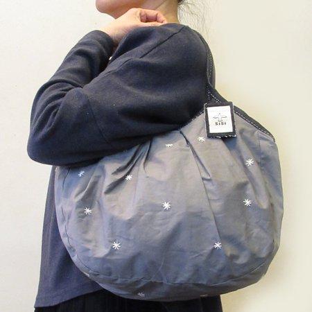 sisiグラニーバッグ 定番サイズ 刺繍 グレイ(マット)