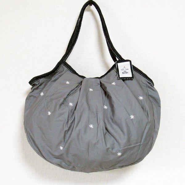 sisiグラニーバッグ 120%ビッグサイズ 刺繍 グレイ(マット)