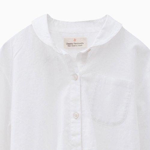 フェアトレード シサム工房 白いシャツ