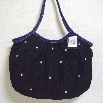 sisiグラニーバッグ 定番サイズ 刺繍 ブラック