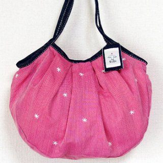 sisi 定番サイズグラニーバッグ 刺繍 ピンク
