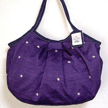 sisiグラニーバッグ 定番サイズ 刺繍 パープル12aw