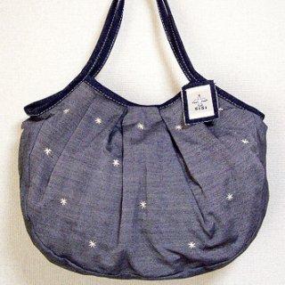 sisiグラニーバッグ 定番サイズ 刺繍 グレイ12aw