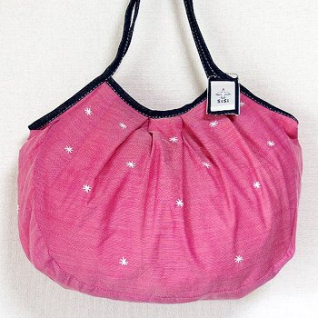 sisiグラニーバッグ 120%ビッグサイズ 刺繍 ピンク