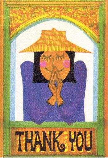 ナンシーチャンドラー グリーティングカード Mサイズ タイワイサンキュー