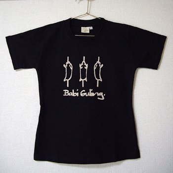 バリ島Tシャツ レディース バビグリン ブラック