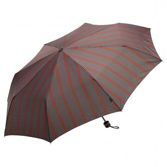 【waterfront】折りたたみ傘 大きい65cm FRP骨の丈夫な傘 超撥水傘 ストロングアーミー ストライプ柄 ウォーターフロント シューズセレクション