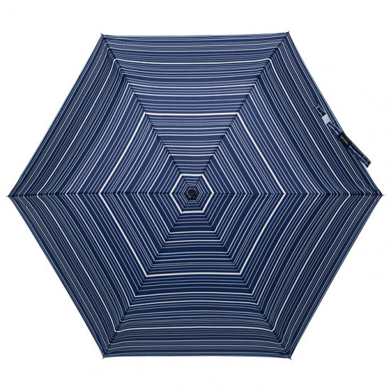 【waterfront】折りたたみ傘 自動開閉 晴雨兼用傘 超撥水傘 軽量200g ダブルジャンプスリム50 ボーダー柄 ウォーターフロント シューズセレクション