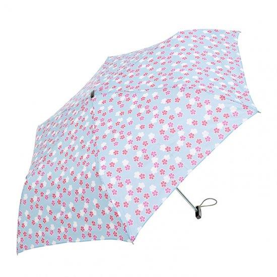 【waterfront】折りたたみ傘 晴雨兼用傘 軽量165g ポケフラット桜小紋UV ウォーターフロント シューズセレクション
