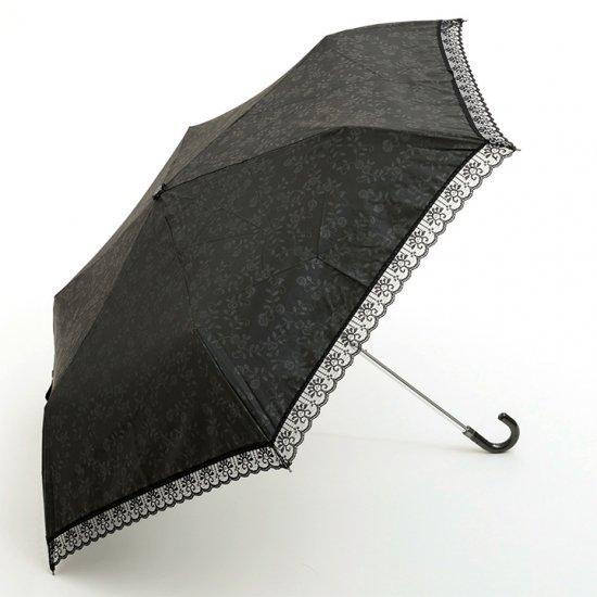 【waterfront】折りたたみ傘 遮光遮熱傘 晴雨兼用レディース傘 エンボス花柄 裏シルバー三折 ウォーターフロント シューズセレクション
