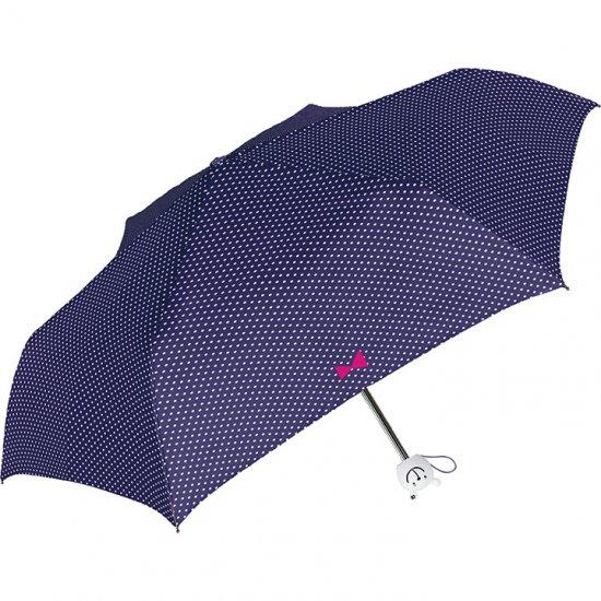 折りたたみ傘 子供用記念品 かわいい子供用ポッカポッケドット柄 三つ折り 軽量折りたたみ傘 シェイルシェイル/中谷