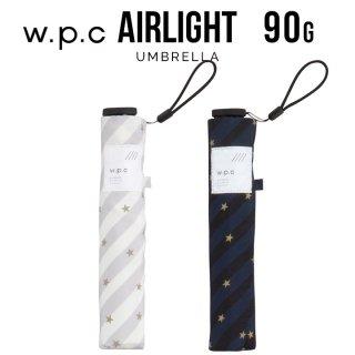 【wpc】折りたたみ傘 超軽量90g傘 Air-light Umbrella スター&ストライプ w.p.c ワールドパーティー