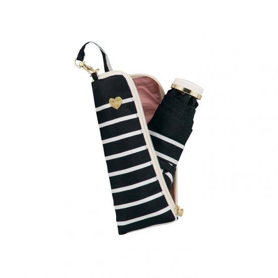 【wpc】折りたたみ傘 heart & border gold mini w.p.c ワールドパーティー
