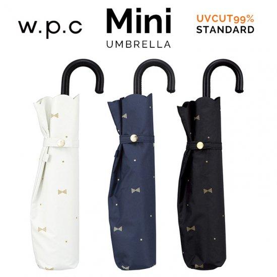 【wpc】【日傘】【遮光遮熱傘】折りたたみ傘 晴雨兼用傘 GEM RIBBON mini w.p.c ワールドパーティー