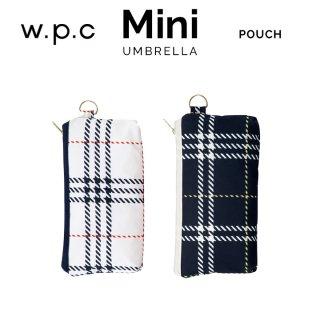 【wpc】折りたたみ傘 houndstooth mix check mini w.p.c ワールドパーティー