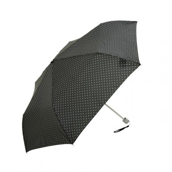 【waterfront】折りたたみ傘 軽量140g傘 ペン細 水玉 ウォーターフロント シューズセレクション