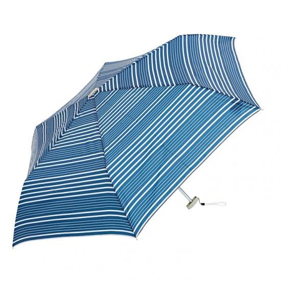 【waterfront】【晴雨兼用傘】折りたたみ傘 ポケフラット55 ボーダーUV ウォーターフロント シューズセレクション