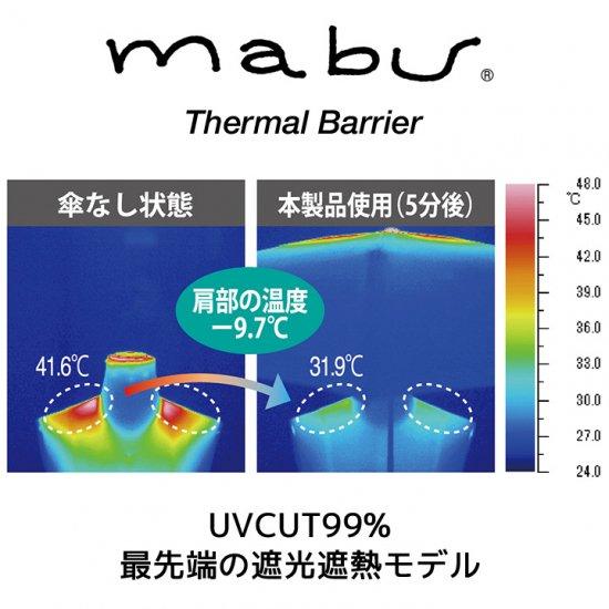 【mabu】日傘 折りたたみ傘 遮光遮熱傘 晴雨兼用傘 ヒートカット Ti for MEN マブ