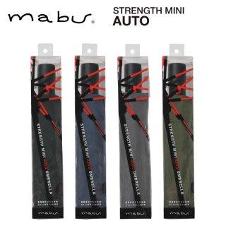 【mabu】丈夫な折りたたみ傘 自動開閉傘 強風でも壊れにくい ストレングスミニ AUTO マブ
